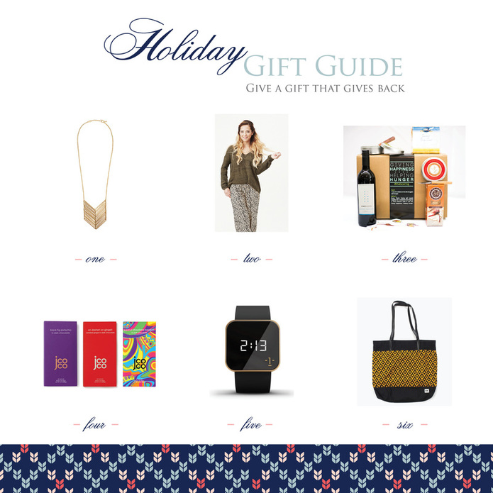 Holiday Gift Guide – Gifts that Give Back