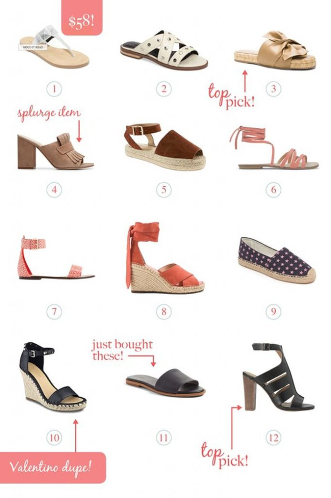 My Picks for Spring and Summer Sandals