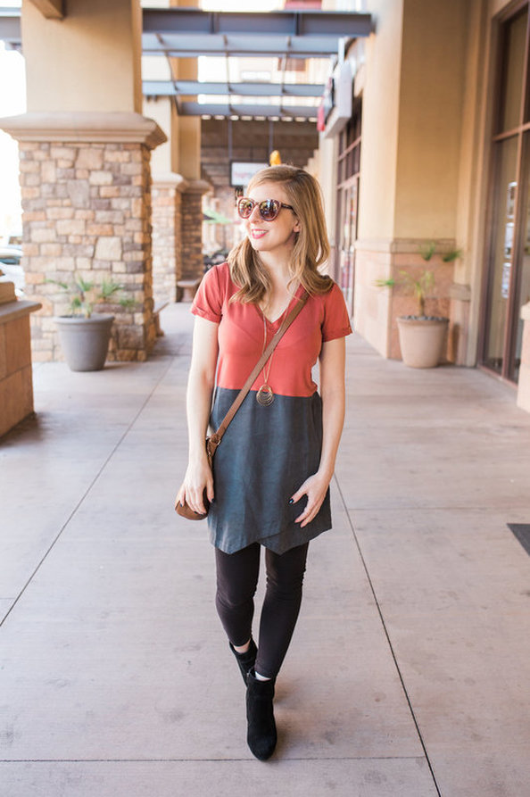 A color block dress with the softest of fabric