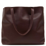 Cuyana Classic Leather Tote - Dark Burgundy