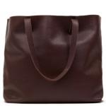 Cuyana Classic Leather Tote - Dark Burgundy