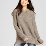 Gray marled tunic sweater