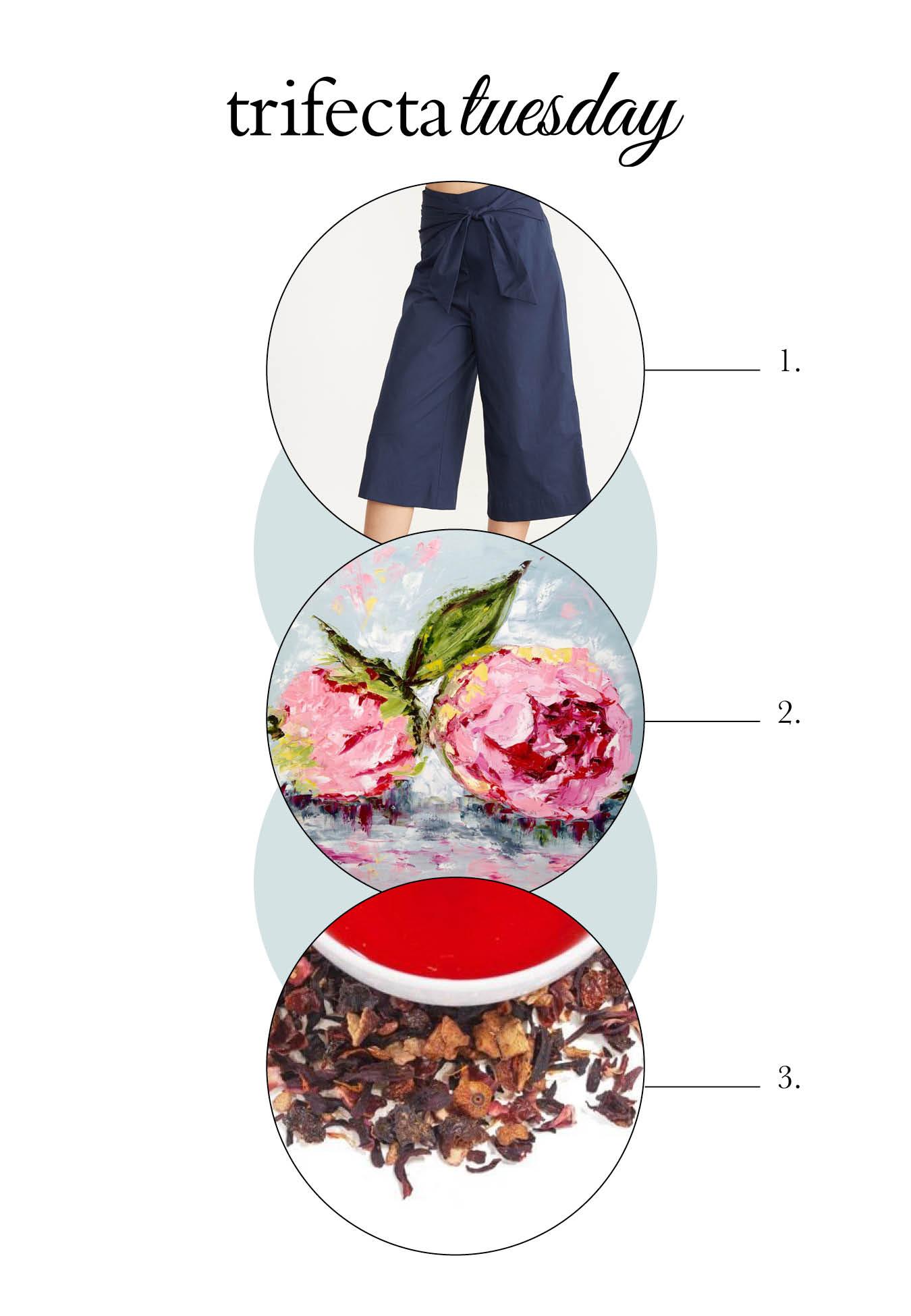 Navy Pants, Artwork and Tea - Top Picks