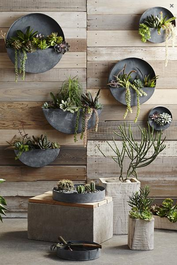 Outdoor Zinc Wall Planter