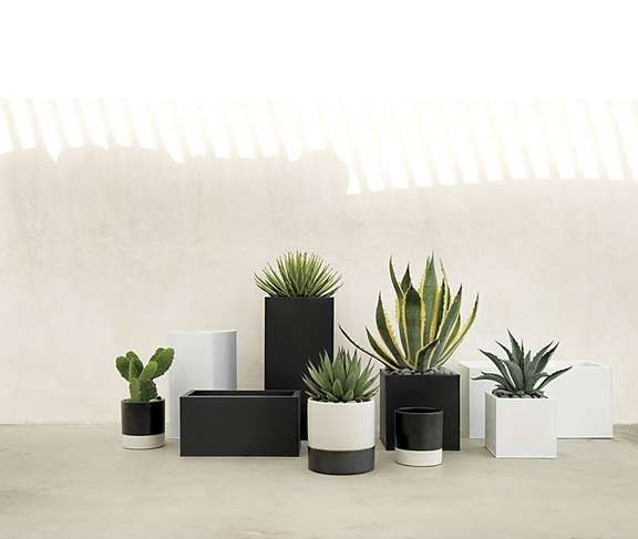 Two Tone Earthenware Planters