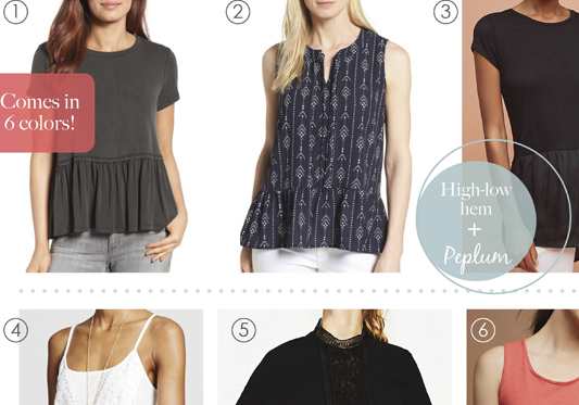 Under $100 Peplum Tops