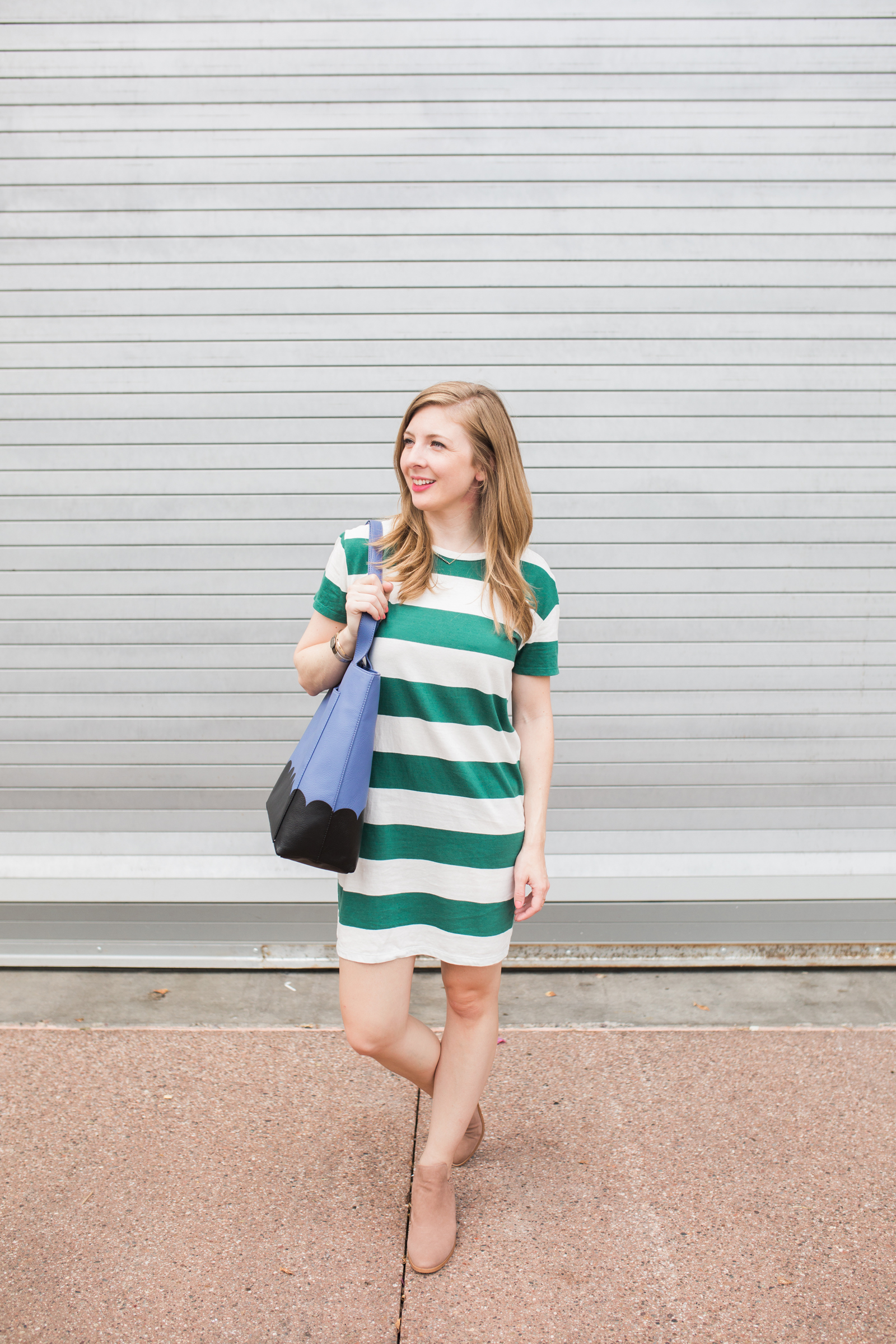 Green and White Rugby Dress