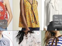 tie neck blouse favorites