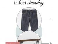 jeans, desk