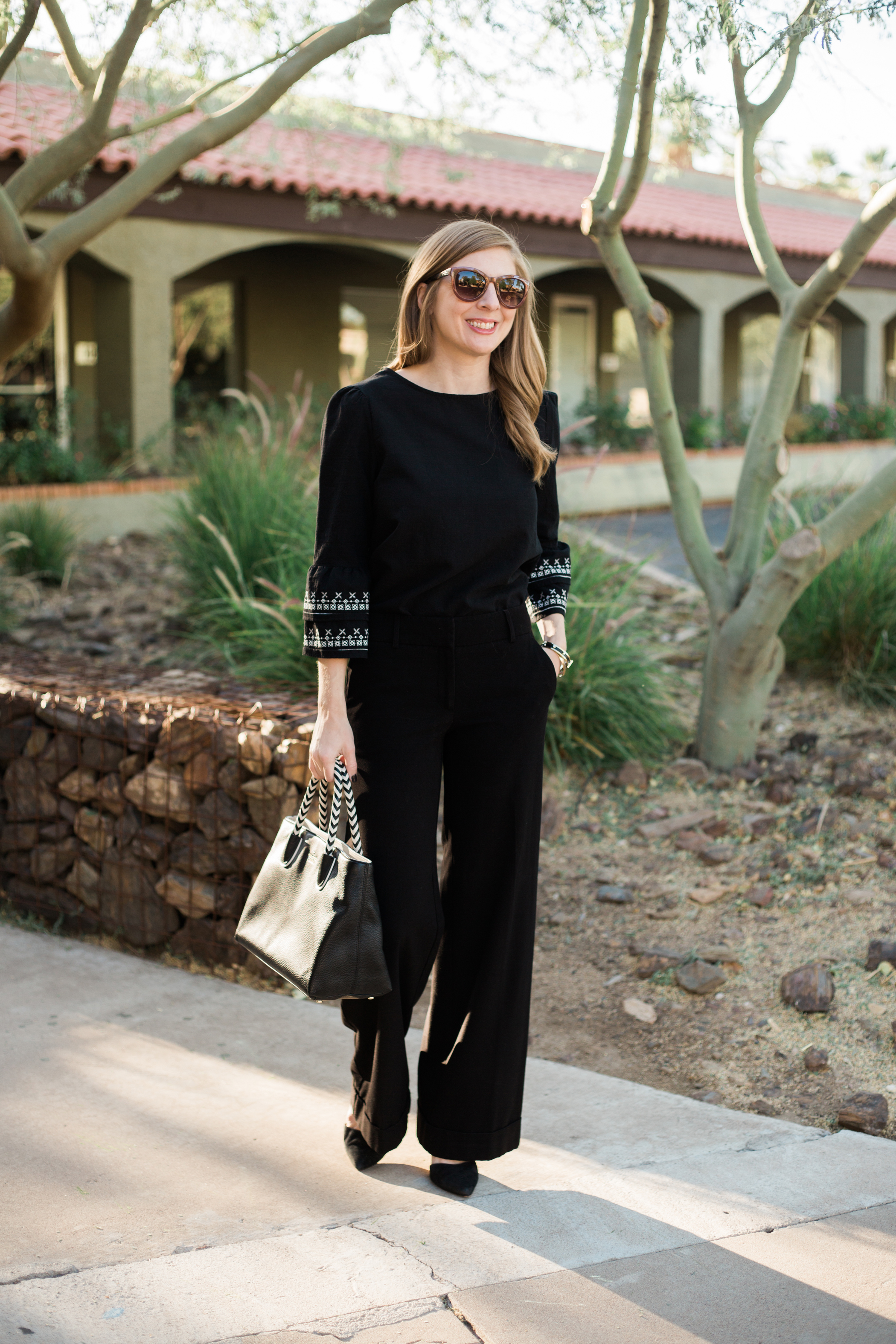 black and white workwear