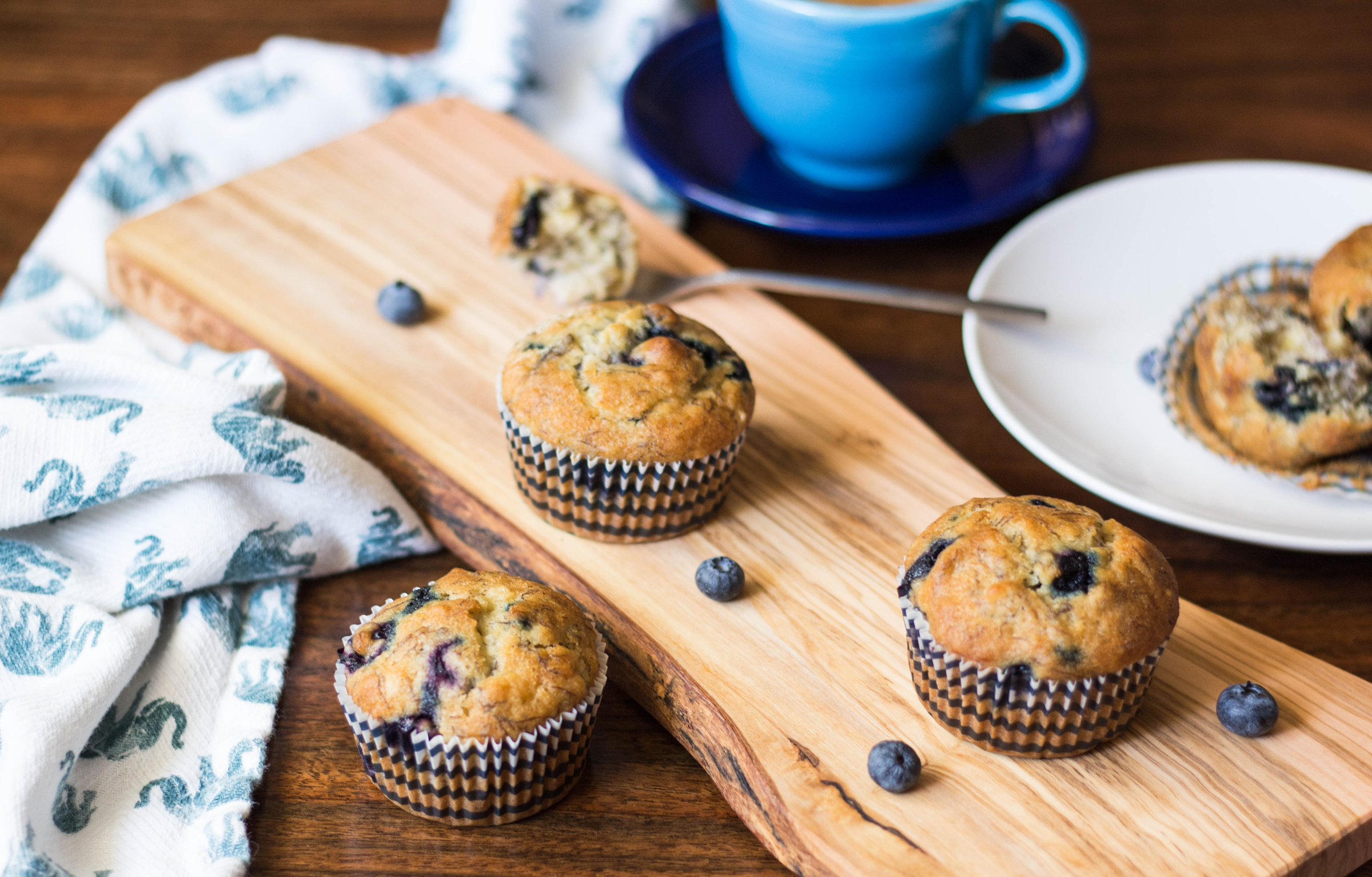 banana blueberry muffin recipe