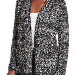 Black and White Eyelash Sweater