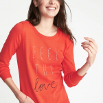 Feel the Love Coral Sweater