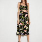 Express Floral Cut out Midi