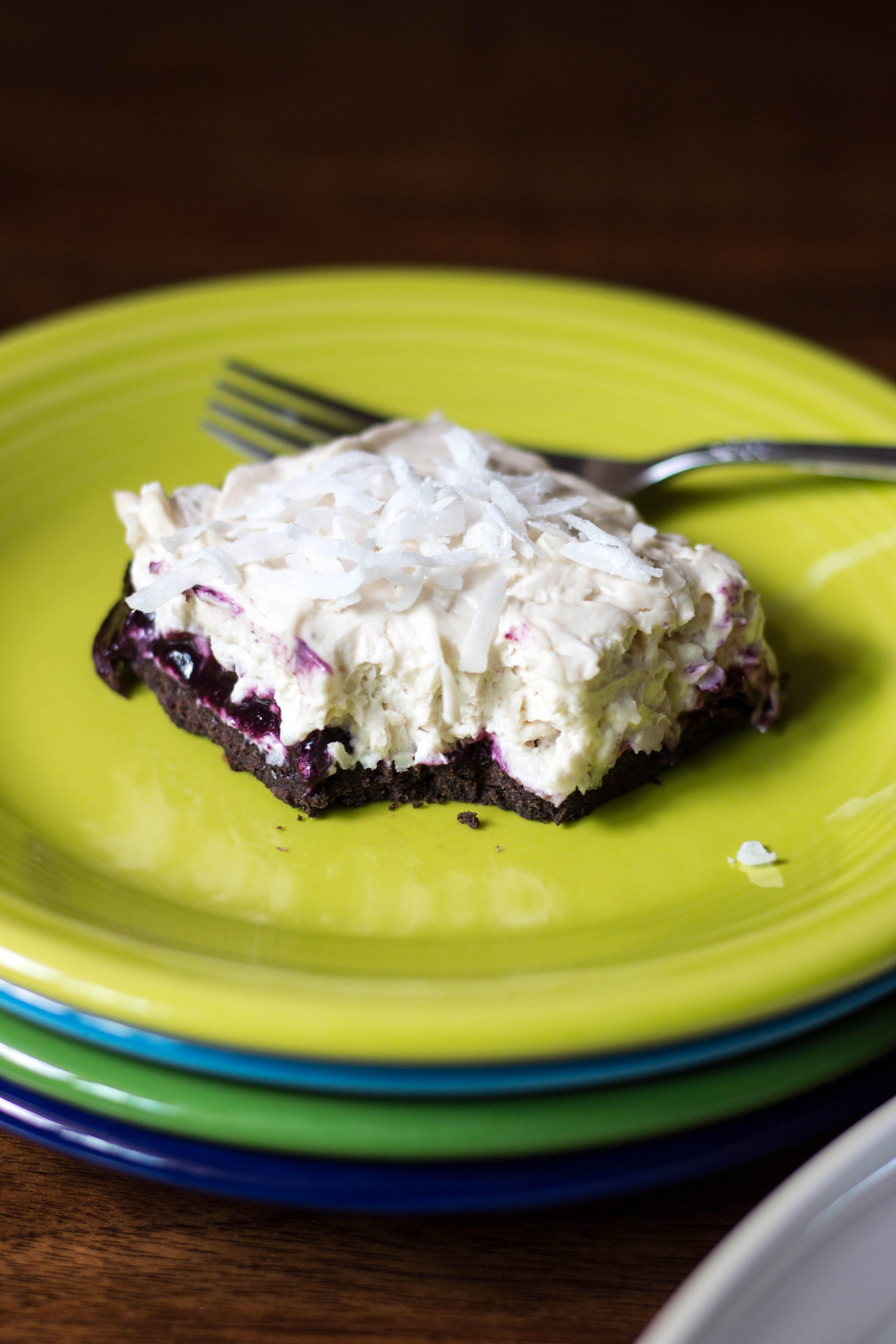 Blueberry Coconut Cheesecake Bars