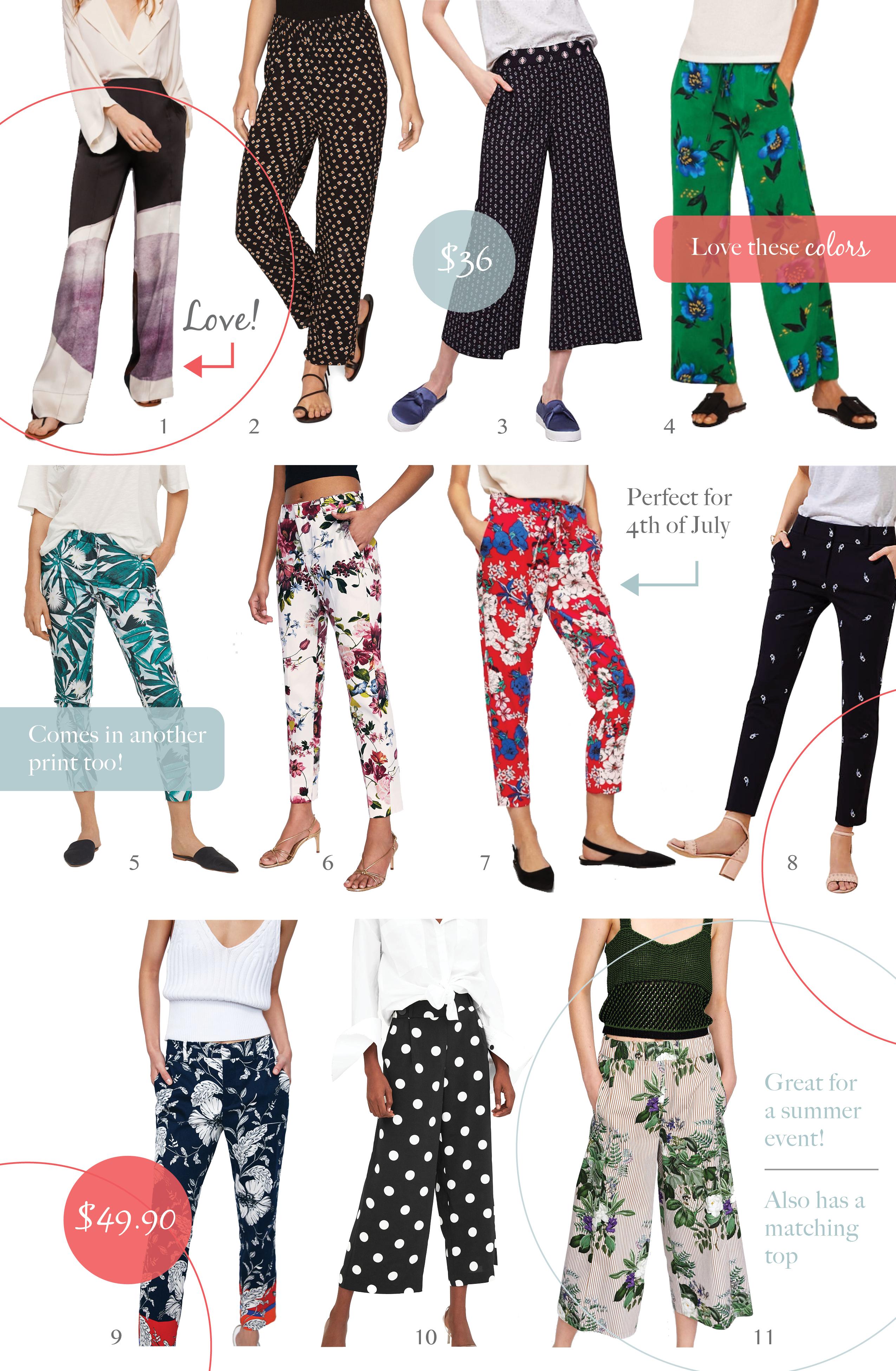 10 Printed Pants We Love