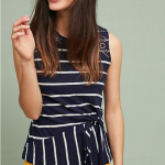Anthropologie Sail Away Striped Tank