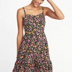 Old Navy Fit and Flare Tiered Cami Dress