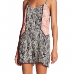 THML patterned woven romper