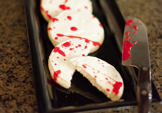 Halloween Blood Spattered Sugar Cookies
