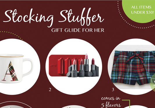 Stocking Stuffer Ideas for Her – All Under $30!